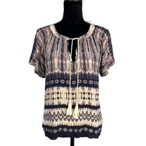 THE IMPECCABLE PIG Boho Tie Dye Blouse S